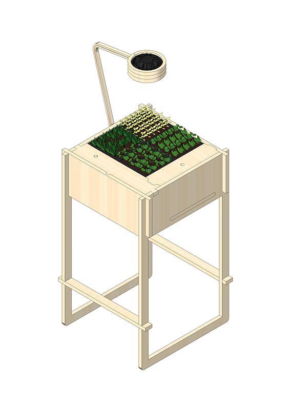 Potager d 39 int rieur jardin d 39 entreprise ciel mon radis for Anatomie du meuble